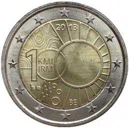 Belgique 2013 - 2 euros commémorative du 100e anniversaire de l'Institut royal météorologique.
