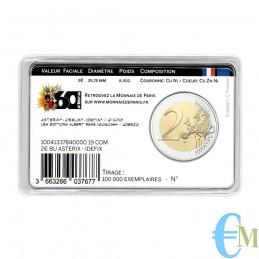 Francia 2019 - 2 euro commemorativo 60° anniversario di Asterix in coincard con Asterix e Idefix retro