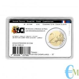 Francia 2019 - 2 euro commemorativo 60° anniversario di Asterix BU in coincard con Obelix retro