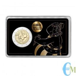 Francia 2019 - 2 euro commemorativo 60° anniversario di Asterix BU in coincard con Obelix
