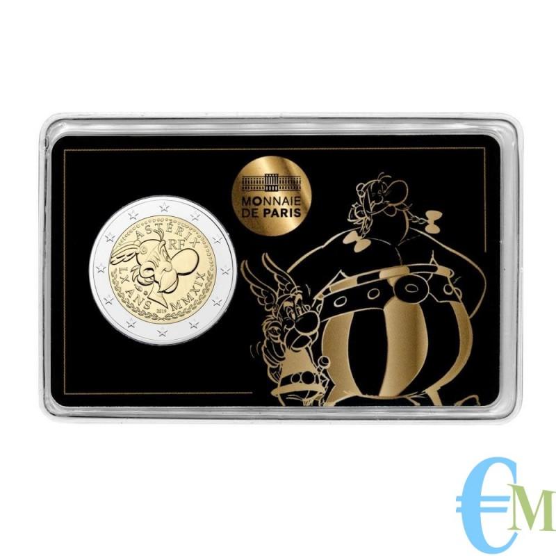 Francia 2019 - 2 euro commemorativo 60° anniversario di Asterix BU in coincard con Asterix e Obelix
