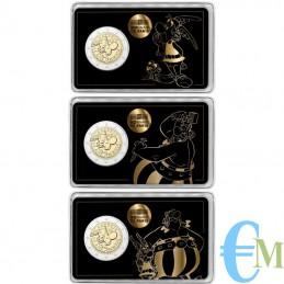 Francia 2019 - Tris 2 euro 60° Asterix BU in coincard Aterix Obelix Idefix