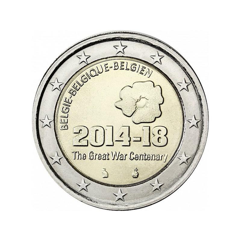 Belgio 2014 - 2 euro commemorativo 100° anniversario dell'inizio della Prima guerra mondiale
