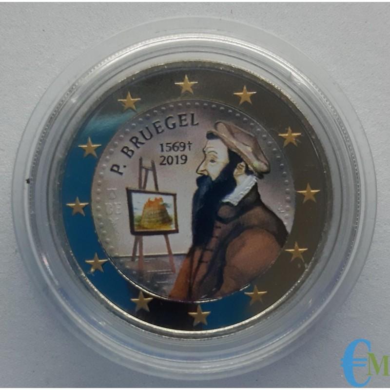 Belgio 2019 - 2 euro colorato 450° Pieter Bruegel