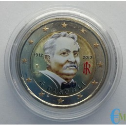 Italia 2012 - 2 euro colorato 100° Giovanni Pascoli