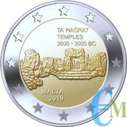 Malta 2019 - 2 euros templos de Ta Hagrat