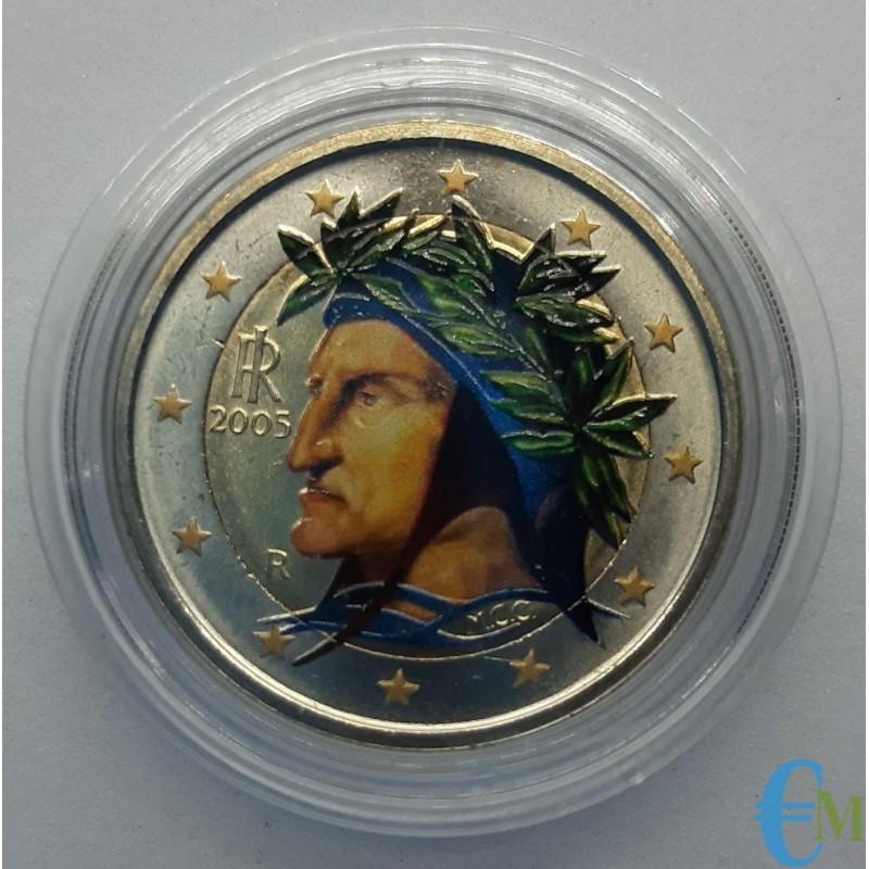 Italia 2005 - 2 euro colorato Dante