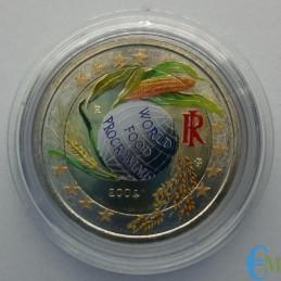 Italia 2004 - 2 euro colorato PAM Programma Alimentare Mondiale