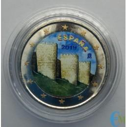 Spagna 2019 - 2 euro colorato Avila