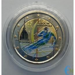 Italia 2006 - 2 euro colorato Olimpiadi invernali Torino