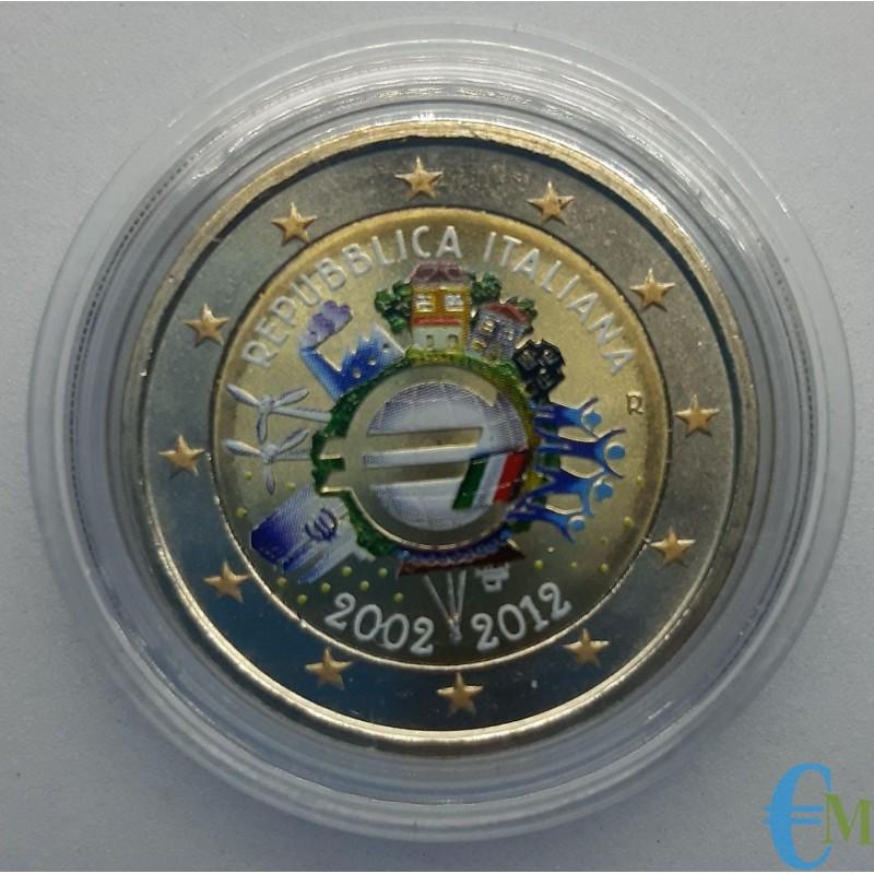 Italia 2012 - 2 euro colorato 10° Euro Moneta