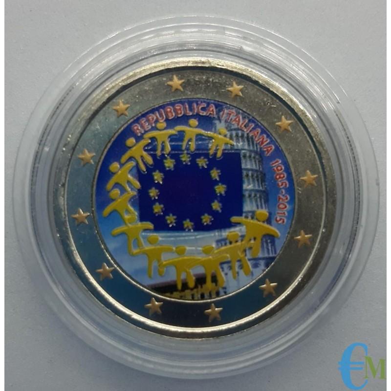 Italia 2015 - 2 euro colorato 30° Bandiera Europea