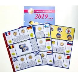 Fogli aggiornamento 2 € Commemorativi 2019 Seconda Parte