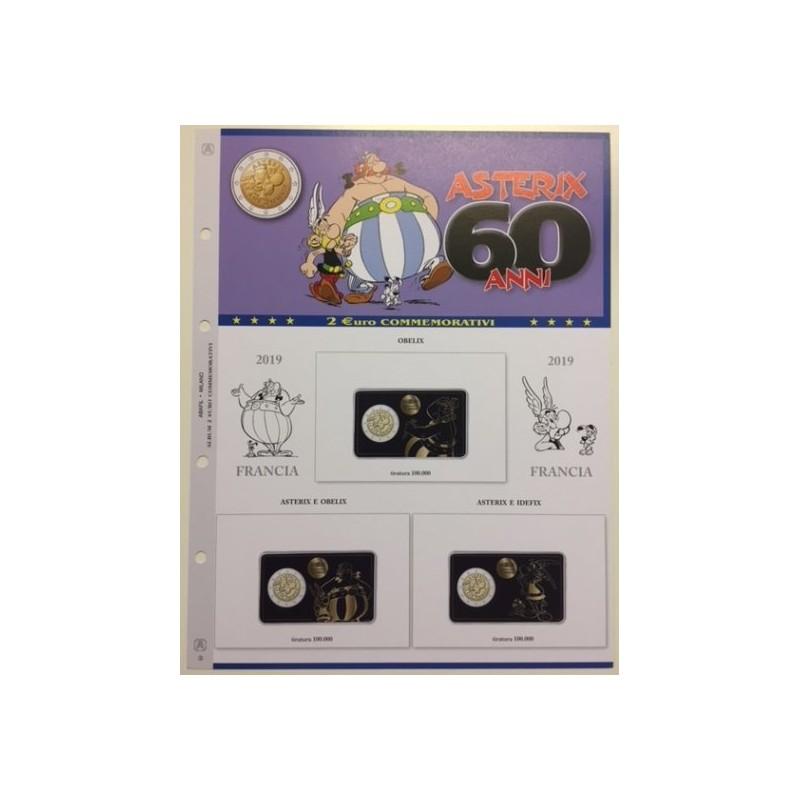 Foglio per 2 € Commemorativi Asterix