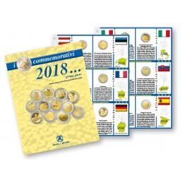 Fogli aggiornamento 2 € Commemorativi 2018 Prima Parte