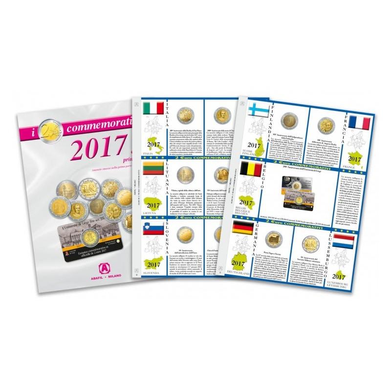 Fogli aggiornamento 2 € Commemorativi 2017 Prima Parte
