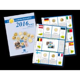 Fogli aggiornamento 2 € Commemorativi 2016 Prima Parte
