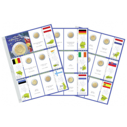 Fogli aggiornamento 2 € Commemorativi 2012 10° Euro Moneta