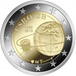 Belgio 2018 - 2 euro commemorativo 50° anniversario del lancio del satellite ESRO-2B