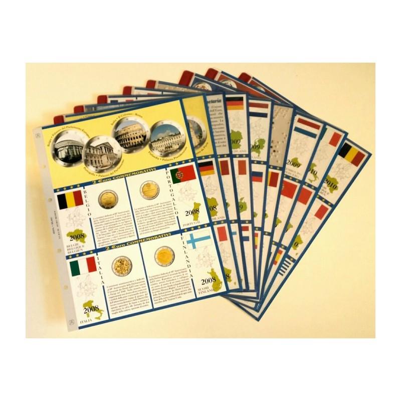 Blocco fogli 2 € Commemorativi dal 2008 al 2010