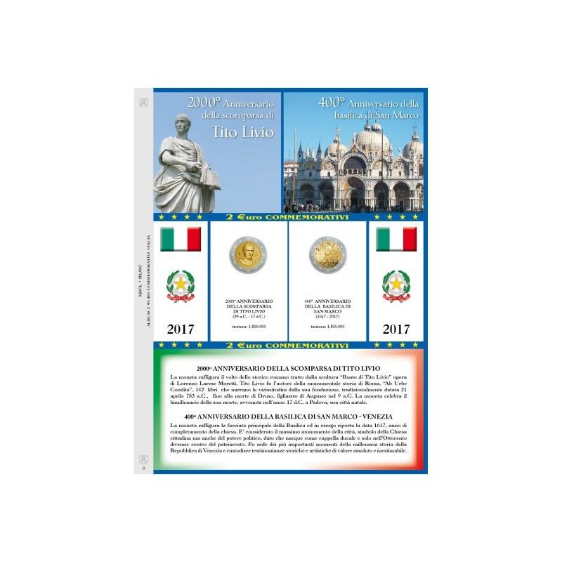 Foglio 2 € Commemorativo Italia 2017 Venezia e Tito Livio