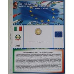 Foglio 2 € Commemorativo Italia 2015 30° Bandiera