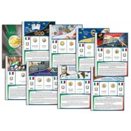 Blocco fogli 2 € Commemorativo Italia dal 2004 al 2019