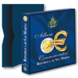 Raccoglitore vuoto con custodia per 2 € Commemorativi San Marino