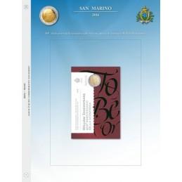 Foglio per 2 € Commemorativo San Marino 2016 Shakespeare