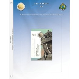 Foglio per 2 € Commemorativo San Marino 2016 Donatello