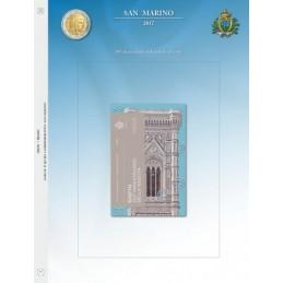 Foglio per 2 € Commemorativo San Marino 2017 Giotto