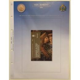 Foglio per 2 € Commemorativo San Marino 2019 Leonardo