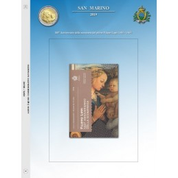 Foglio per 2 € Commemorativo San Marino 2019 Lippi