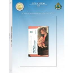Foglio per 2 € Commemorativo San Marino 2020 Raffaello