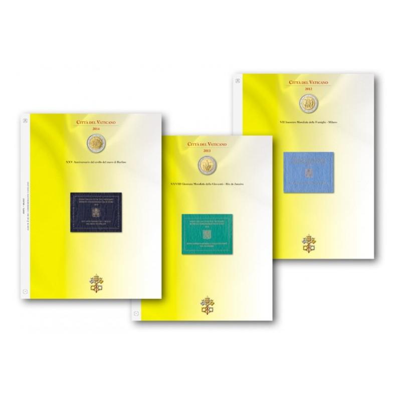 Blocco fogli 2 € Commemorativo Vaticano dal 2015 al 2019