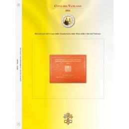 Foglio per 2 € Commemorativo Vaticano 2016 Gendarmeria