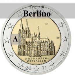 Germania 2011 - 2 euro Colonia - zecca A