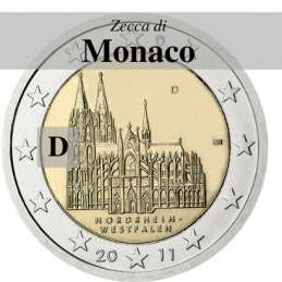 Germania 2011 - 2 euro Colonia - zecca D