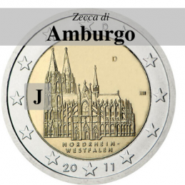 Germania 2011 - 2 euro Colonia - zecca J