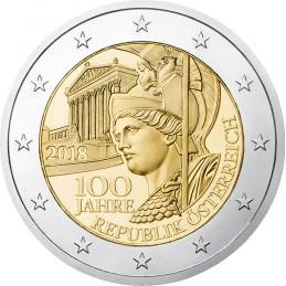 Austria 2018 - 2 euro commemorativo 100° anniversario della Repubblica d'Austria