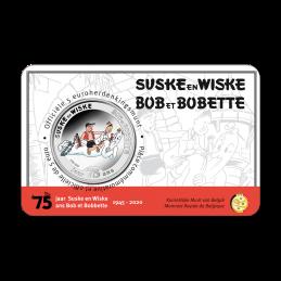 Belgio 2020 - 5 euro 75 anni  Suske en Wiske BU in coincard smaltato fronte