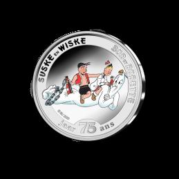Belgio 2020 - 5 euro 75 anni  Suske en Wiske BU in coincard smaltato moneta