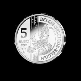 Belgio 2020 - 5 euro 75 anni  Suske en Wiske BU in coincard smaltato moneta rovescio