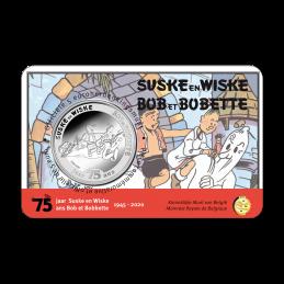 Belgio 2020 - 5 euro 75 anni  Suske en Wiske BU in coincard fronte