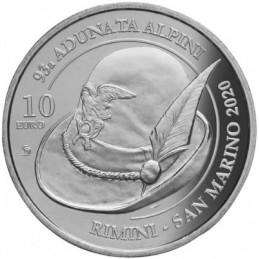 San Marino 2020 - 10 Euro 93° Adunata  Alpini Rimini