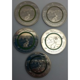 Germania 2019 - 5 euro Zona Temperata con anello Polimero verde retro