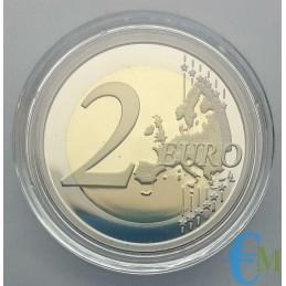 Slovenia 2019 - 2 euro Proof 100° Lubiana in capsula rovescio