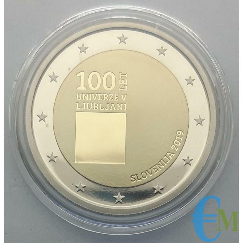 Slovenia 2019 - 2 euro Proof 100° Lubiana in capsula