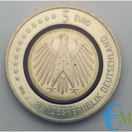Germania 2016 - 5 euro Pianeta Terra Zecca J retro