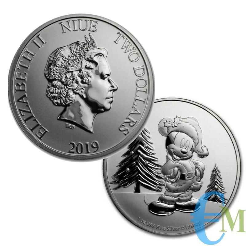 NIUE 2019 - 2 Dollars Disney Topolino - 1oncia oz